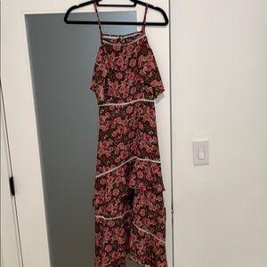 Nasty Gal floral maxi dress